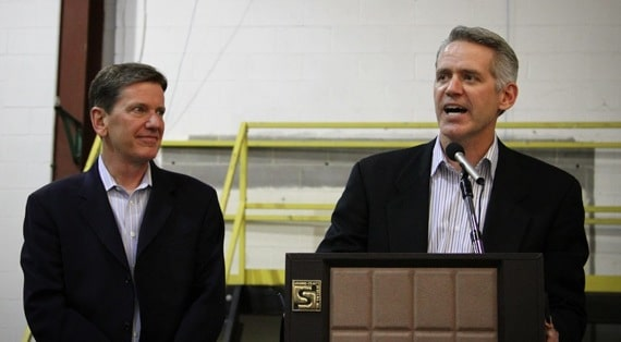 Michael Hyatt and Mark Schoenwald, the new CEO of Thomas Nelson