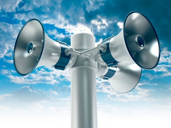 Multiple Megaphones on a Pole - Photo courtesy of ©iStockphoto.com/adventtr, Image #8233181
