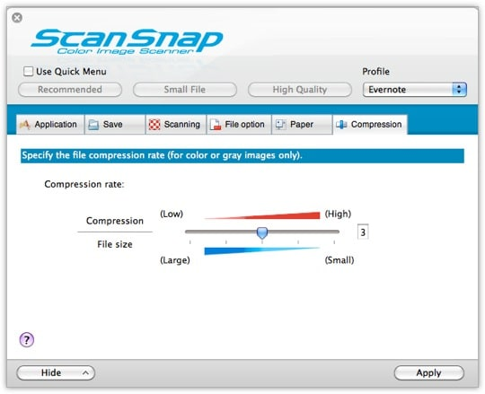 ScanSnap Settings - Tab 6