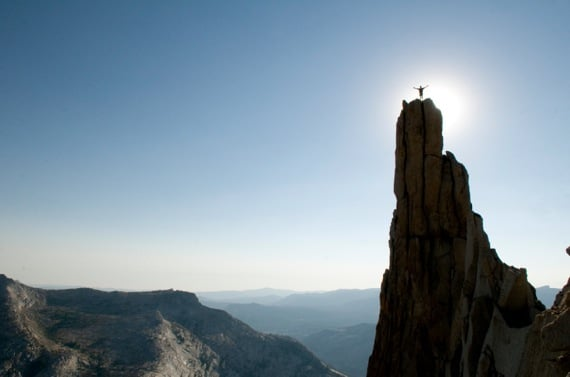 A Man Standing on a Pinnacle - Photo courtesy of ©iStockphoto.com/vernonwiley, Image #7112779