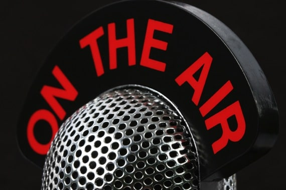 Close Up of a Microphone and On the Air Sign - Photo courtesy of ©iStockphoto.com/Graffizone, Image #7629279