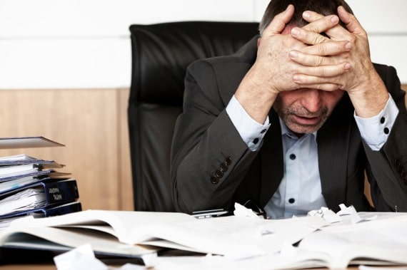 A Frustrated, Over-worked Manager - Photo courtesy of ©iStockphoto.com/OtmarW, Image #15900242