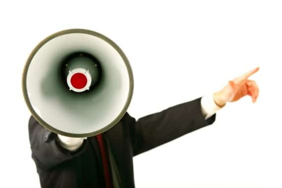 Man with a Megaphone - Photo courtesy of ©iStockphoto.com/lisegagne, Image #651734