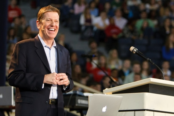 Michael Hyatt Speaking in Front of a Large Audience