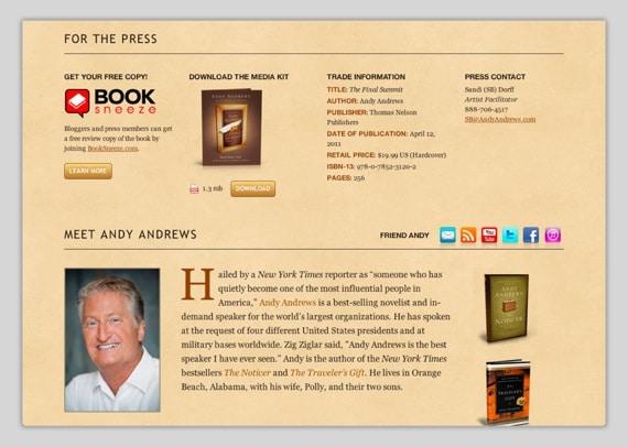 Andy Andrews' Media Kit
