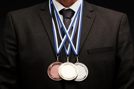 Businessman With Several Medals - Photo courtesy of ©iStockphoto.com/aluxum, Image #15943946