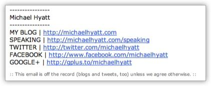 My Email Signature