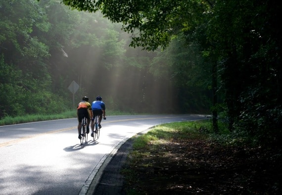 Two Cyclists on a North Georgia Country Road - Photo courtesy of ©iStockphoto.com/sebatl, Image #1912776