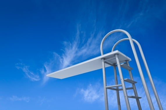 A Diving Platform with Blue Sky in the Background - Photo courtesy of ©iStockphoto.com/ZargonDesign, Image #14431358