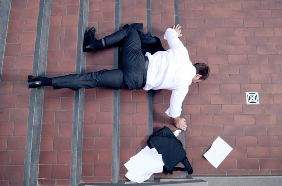 Businessman Falling Down the Stairs - Photo courtesy of ©iStockphoto.com/viki2win, Image #16002596