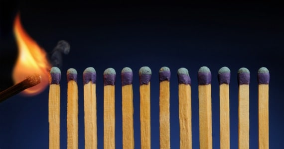 Row of Matches About to Catch Fire - Photo courtesy of ©iStockphoto.com/JamesBrey, Image #8023692