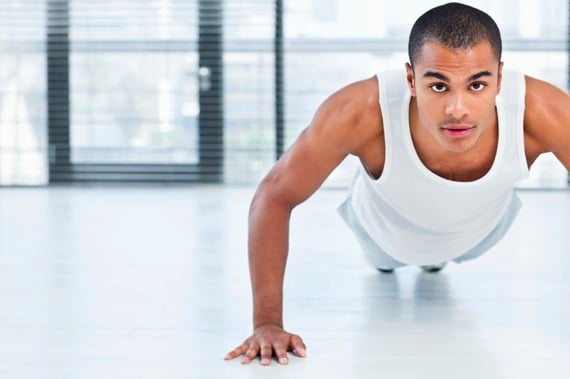 Young Man Doing Push Ups - Photo courtesy of ©iStockphoto.com/Neustockimages, Image #14595763