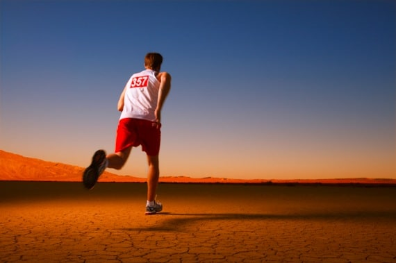 A Man Running in the Desert - Photo courtesy of ©iStockphoto.com/skodonnell, Image #7572215