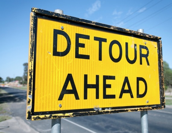 A Well-Worn Detour Sign - Photo courtesy of ©iStockphoto.com/georgeclerk, Image #13522666