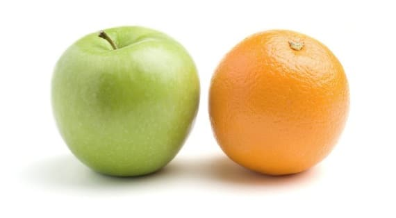 Apples and Oranges - Photo courtesy of ©iStockphoto.com/bluestocking, Image #3501504