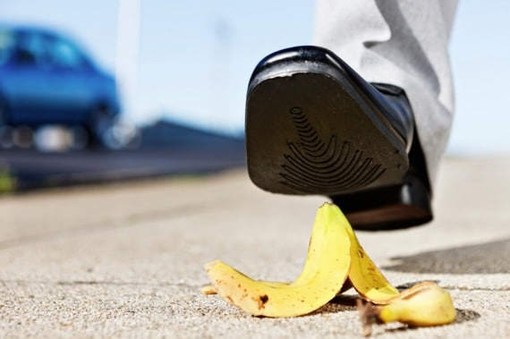 Man About to Step on a Banana Peel - Photo courtesy of ©iStockphoto.com/RapidEye, Image #17409874