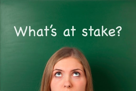 Woman Asking the Question, What Is at Stake? - Photo courtesy of ©iStockphoto.com/fotosipsak, Image #18826194
