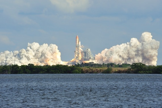 Space Shuttle Atlantis launches from the Kennedy Space Center - Photo courtesy of ©iStockphoto.com/japrz, Image #14676970