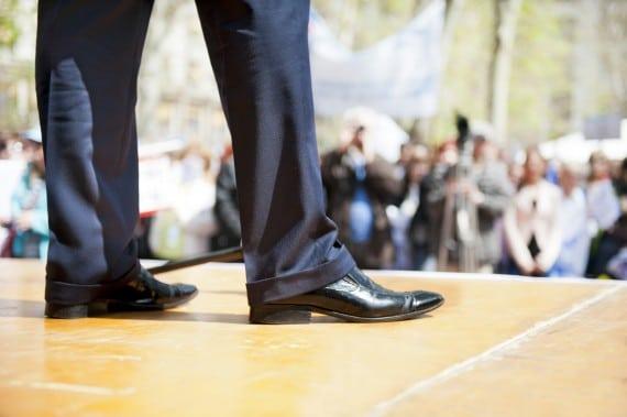Man Standing on a Platform