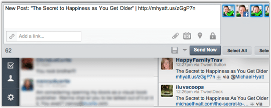 Tweeting a Link to a New Blog Post in HootSuite