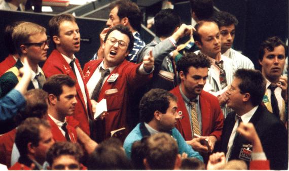 Stock Market Trading Floor