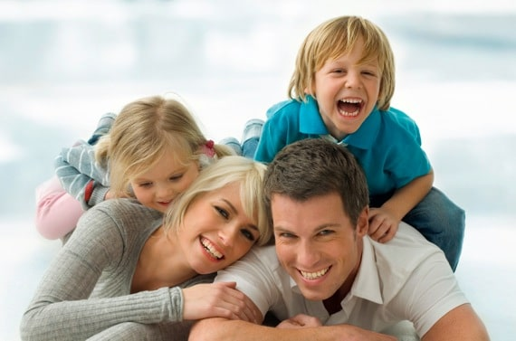 Family of Four on the Floor - Photo courtesy of ©iStockphoto.com/H-Gall, Image #7889488