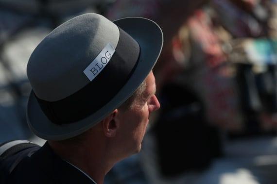 A Blogger Observes a Political Proceeding - Photo courtesy of ©iStockphoto.com/EdStock, Image #18942172