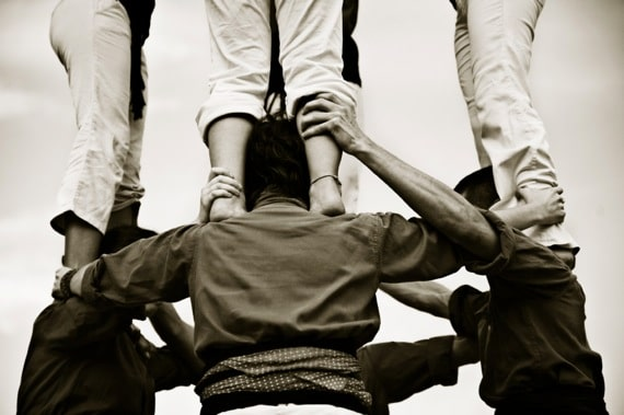 Trust in Building a Human Tower - Photo courtesy of ©iStockphoto.com/nuno, Image #4239994