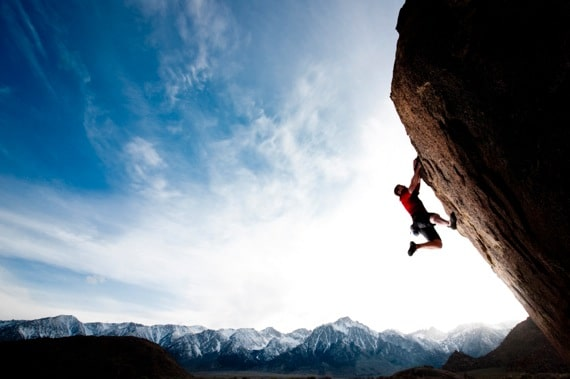 A Climber Hanging onto a Steep Cliff - Photo courtesy of ©iStockphoto.com/VernonWiley, Image #16288715