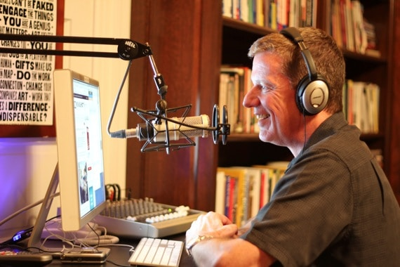Michael Hyatt Broadcasting from His Home Studio