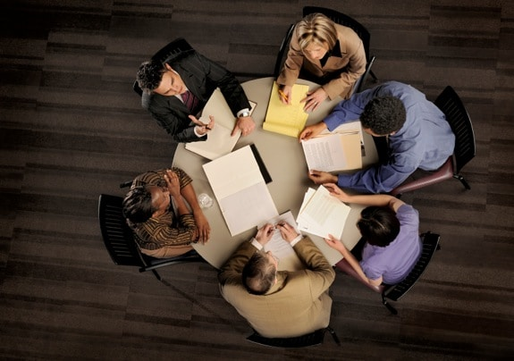 Group of Business People in a Power Meeting
