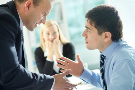 A Manager Arguing with a Subordinate - Photo courtesy of ©iStockphoto.com/mediaphotos, Image #18676911