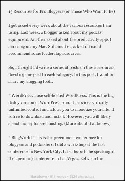 Screenshot of Byword