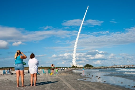 A Rocket Launches from Cape Canavera - Photo courtesy of ©iStockphoto.com/jcarillet, Image #17082802