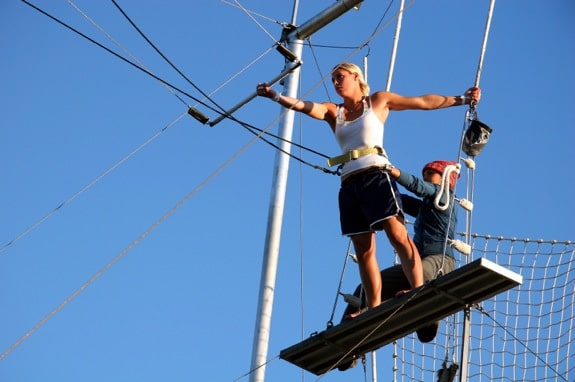 Anticipating the Leap Off of the Trapeze Platform - Photo courtesy of ©iStockphoto.com/mtenniswood, Image #1106647