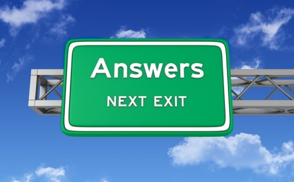 Answers, Next Exit Sign - Photo courtesy of ©iStockphoto.com/porcorex, Image #18549045