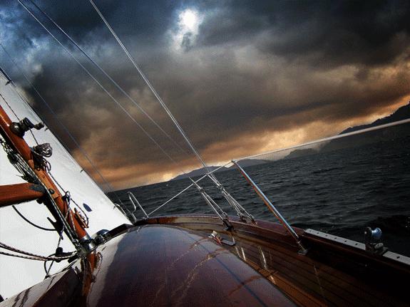 A Ship on a Turbulent Sea