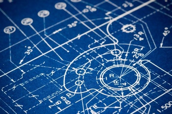 Detail of an Engineering Blueprint - Photo courtesy of ©iStockphoto.com/AK2, Image #7206299