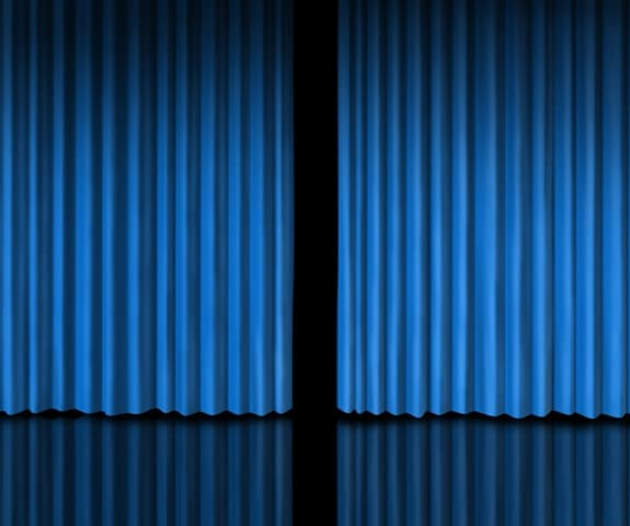A Blue Curtain with a Gap - Photo courtesy of ©iStockphoto.com/wildpixel, Image #21964859