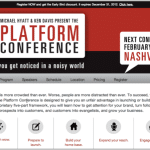 Join Me for the Platform Conference, February 11-13, 2013