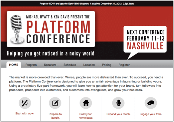 Platform Conference Website Screenshot