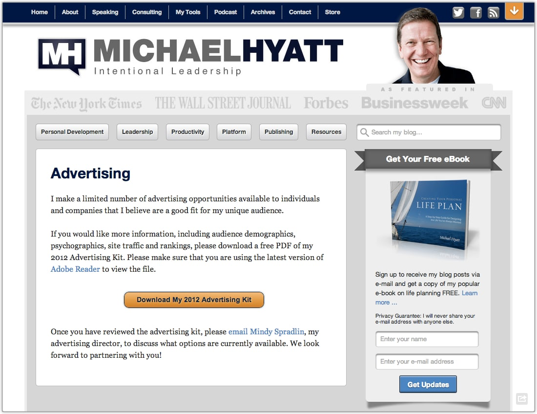 My Advertising Page