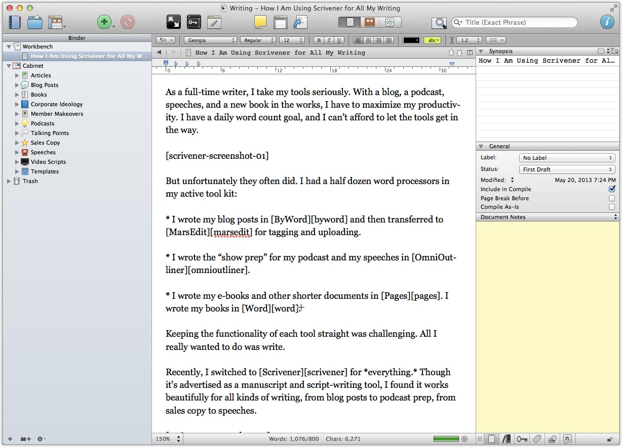reasons i switched to scrivener for all my writing