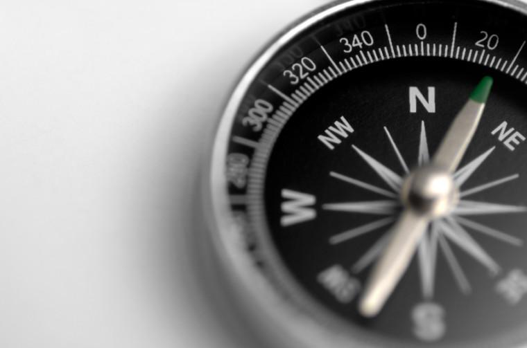 Simple Black & White Compass