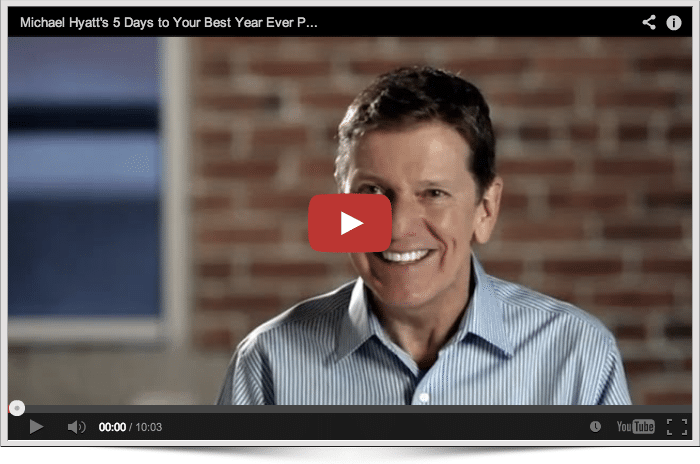 5 Days to Your Best Year Ever, Video #1