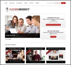 Platform University Members Home Page