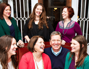 Me with My Wife, Gail, and Five Daughters