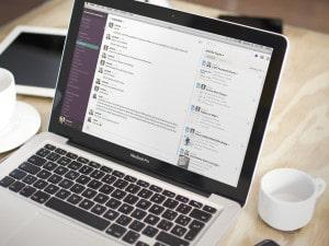 Slack on a Laptop