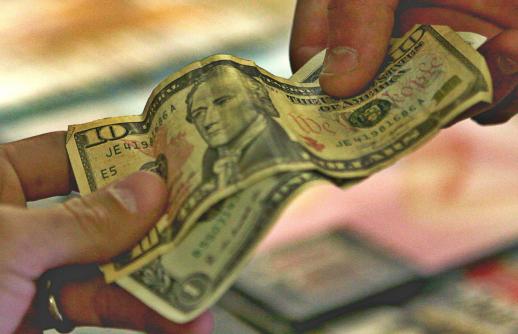 exchanging cash 2