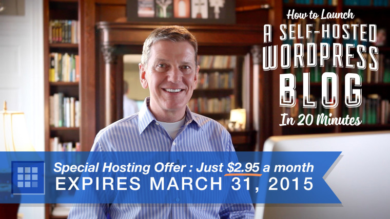 Get a Self-Hosted WordPress Blog for Just $2.95 a Month